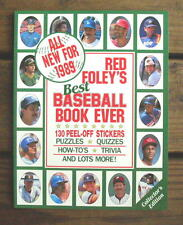1989 RED FOLEY STICKER BOOK Wade Boggs Tony Gwynn Tim Raines Joe Carter Oddball