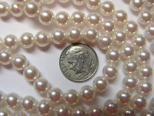 50 PIECES SWAROVSKI CRYSTAL BEADS/PEARLS #5810 - 7MM - CRYSTAL WHITE PEARL