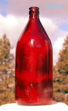 RED Ruby Red SCHLITZ large quart BEER bottle - Theres GOLD in this here bottle!