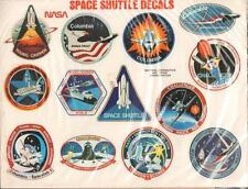 """21 LOT NASA DECALS  3.5 to 3""""  SHUTTLE STS MISSIONS EXCELLENT SEALED RETAIL PACK"""