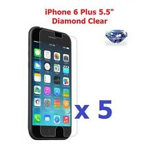 "5 X iPhone 6 Plus 5.5"" Bling Diamond Sparkling Glitter Shimmer Screen Protector"