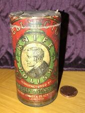 Antique Advertising WELLINGTON Canister Oakey & Sons knife polish Tin Vintage