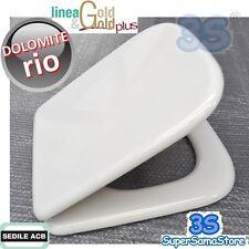 3S SEDILE ASSE TAVOLA COPRI per WC RIO Ceramica Dolomite ACB ERCOS GOLD in LEGNO
