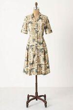 Anthropologie Alary Shirtdress Sz 0, Bird Print Corduroy Dress, Girls From Savoy