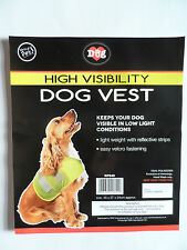 Dog High Visibility/ Hi Vis/ Safety Vest/Jacket/Coat Yellow Reflective Medium