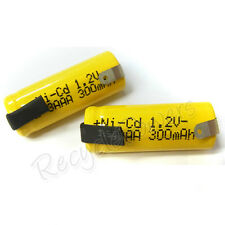 20pcs 2/3 AAA 3A 300mAh Ni-Cd 1.2V rechargeable battery with tab
