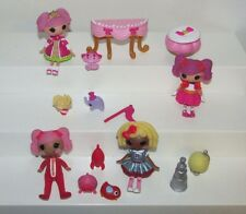 Mini Lalaloopsy Jewel Sparkles primpin party set Peanut big top pepper pots lot