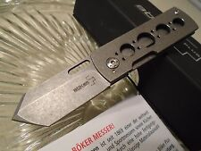 "Boker Plus Pelican Money Clip Pocket Knife VG-10 Titanium 01BO729 Tanto 4.7"" Op"