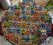 Lot of 66 figures Masters of the Universe He-Man complete pieces parts