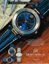PUBLICITE ADVERTISING 114  1992  MICHEL HERBELIN collection montres NEWPORT