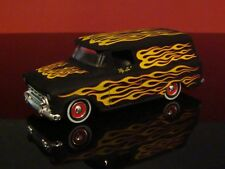 Big Lou's Flamed 1957 57 Chevrolet Panel Hot Rod Delivery 1/64 Scale Ltd Edit R