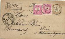Ungarn/Hungary: Attraktive R-KARTE - GaSa+ZuFr 1883 UZON - Wien /Registered/Reko