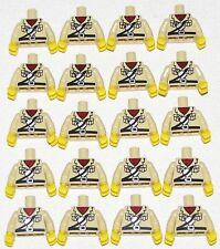 LEGO LOT OF 20 MINIFIGURE TORSOS TAN SAFARI FIGURE PARTS POCKETS AND CANISTER