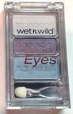 Wet n Wild Mega Eyes Eye Shadow Palette Trio # C384A Island Blues Discontinued
