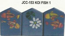 Koi Fish  Stained Glass Pattern Garden Stone Borders NEW!