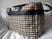 DAKS Brand New Beige Multi-checked extra large bag RRP £315