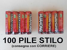 100 PEZZI BATTERIE STILO TELECOMANDO CANCELLO PILE AA 1,5V BLISTERATE RADIO