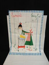 Vintage Milvia- Mid Century - Made In Italy - Tea Towel - Zucchi - New Old Stock