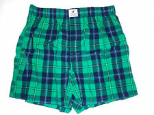 MENS AMERICAN EAGLE OUTFITTERS PLAID BOXER SHORTS 100% COTTON SIZE L 35-38