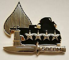 USSOCOM SOCOM 4 Star Tip Of The Spear Coin Dual Plated Gold and Polished Silver