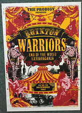 The Prodigy - Brixton End Of World Poster, 3 Setlists & 3 Stubs - 18-20/12/12