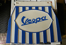 Vespa Blue & White Stripe Genuine Cuppini Mudflap Rubber Type