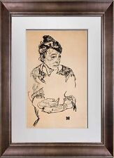 "Egon SCHIELE Lithograph SIGNED Dated LIMITED Ed ""Artist Mother"" 1918 ~FRAME"