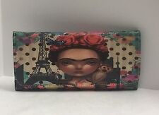 Frida Kahlo Cartoon Statement wallet exported from Mexico City