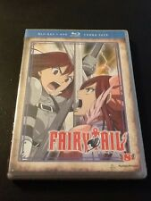 Fairy Tail: Part 8 (Blu-ray/DVD, 2014, 4-Disc Set) CASE CRACKED, NO slipcover A1