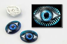 13mm x 18mm Bermuda Blue Oval Eye Cabochon (Each) #EYE010