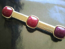 Vintage Trifari Pin Brooch MODERNIST LUCITE PINK RED RUNWAY Snake Chain