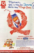 Publicité advertising 1995 Restaurant Quick Danone