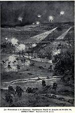 1915 Le Mesnil: Winterschlacht in der Champagne um Höhe 196 * antique print