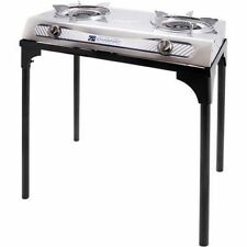2 Burner Propane Stove Outdoor Camping Portable Stand Cooking Stainless Tailgate