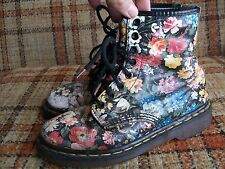 Doc Martens Womens Size 6 (UK 4) Sienna Floral 8-Eye Boots