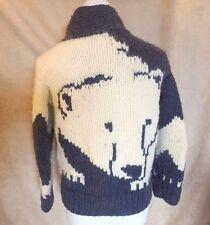 Longhouse Canada Wool Jacket Blue White Polar Bear Sz Large 12/14