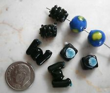 8 Travel series glass lamp work handmade beads camera earth bug binocular gbs066