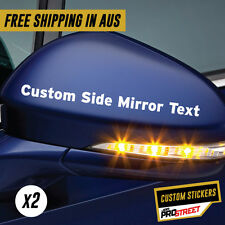 CUSTOM SIDE MIRROR X2 CAR STICKER DECAL Custom Vinyl Decal Business Sticker #...