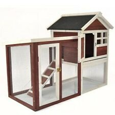 Rabbit Hutch/Chicken Coop W/Run Animal Pet Supplies Backyard Outdoor Hutch