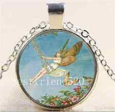 Fairy Swing Photo Cabochon Glass Tibet Silver Chain Pendant  Necklace