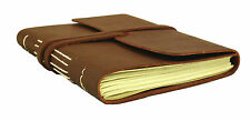 GENUINE Leather Journal Diary Notebook Sketchbook Vintage Rustic HAND MADE 5x7""