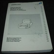 Bedienungsanleitung Siemens VDO Automatisches Maut  Erhebungssystem 04/2004