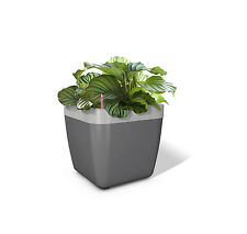 Emsa myBOX Window box Flower pot 35 cm anhrazit/aluminium Planter Plant box