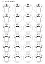24X PRECUT SPURS BIRTHDAY FOOTBALL EDIBLE WAFER CUPCAKE CAKE TOPPERS 1333