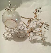 Cinderella Glass & Pumpkin Carriage And Horses