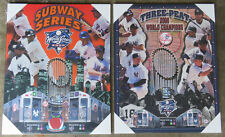 Pair of New York Mets vs. Yankees Subway Series Picture Plaques from 2000