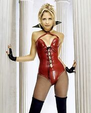 SARAH GELLAR SEXY HOT POSE RED CORSET 8X10