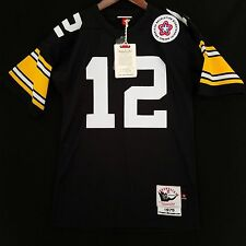 100% Authentic Terry Bradshaw Mitchell Ness Pittsburgh Steelers NFL Jersey 36 S