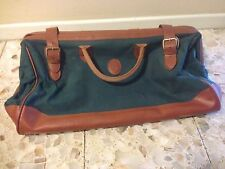 RALPH LAUREN POLO CANVAS/LEATHER DUFFLE/GYM/TRAVEL BAG/GREEN 23 x13