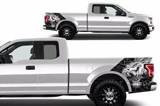 Custom Graphics Vinyl Decal Wrap Kit for 2015-2017 Ford F-150 DRAGON Matte Black